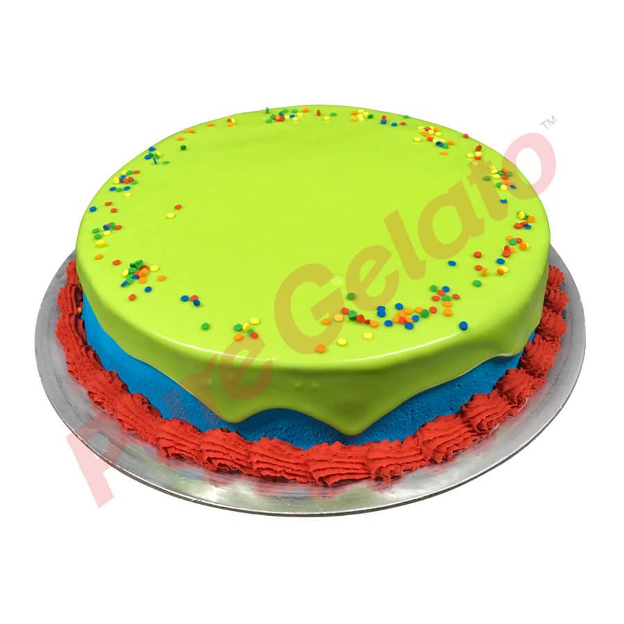 Coloured Drip Cakes