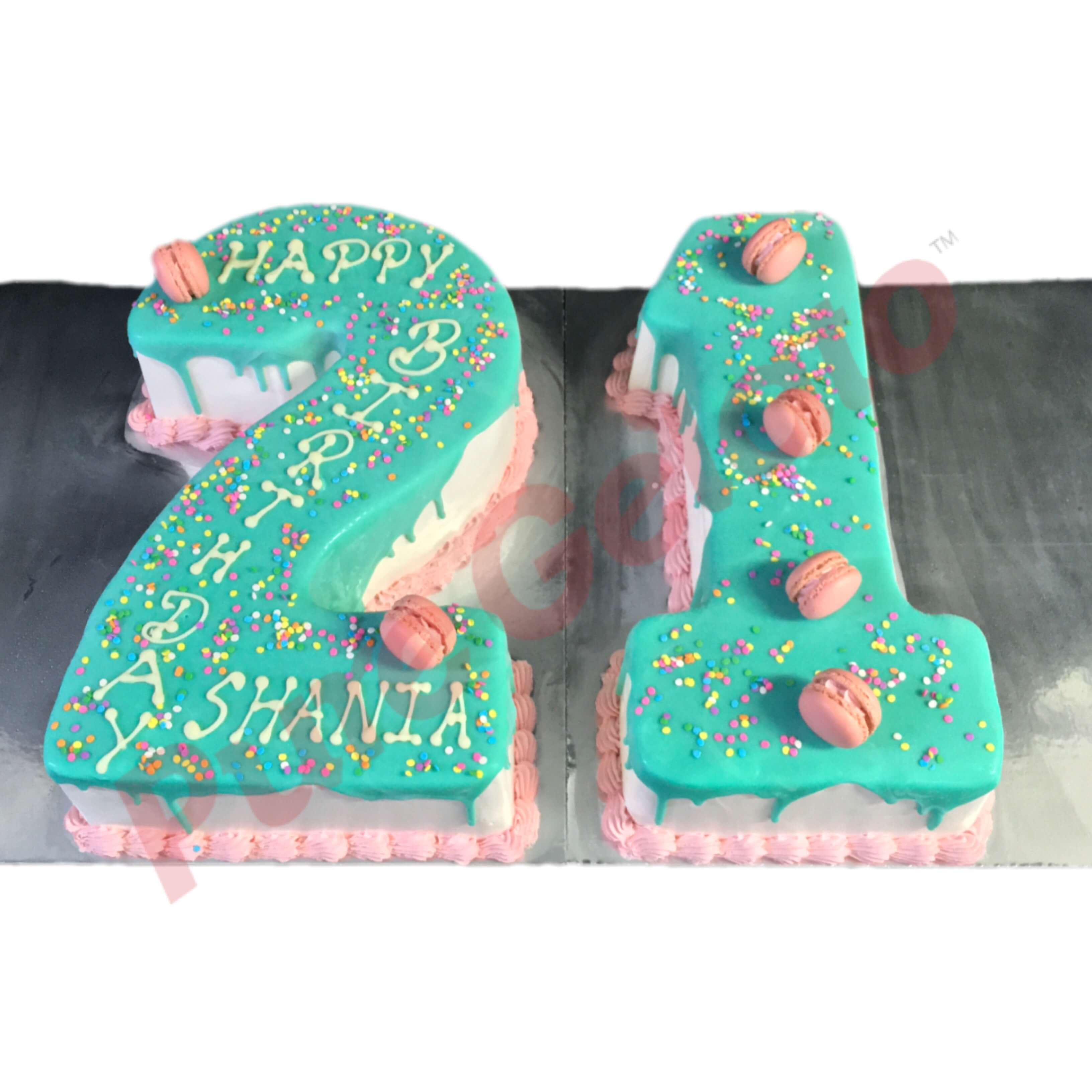 Numeral Cakes (Double Digits)